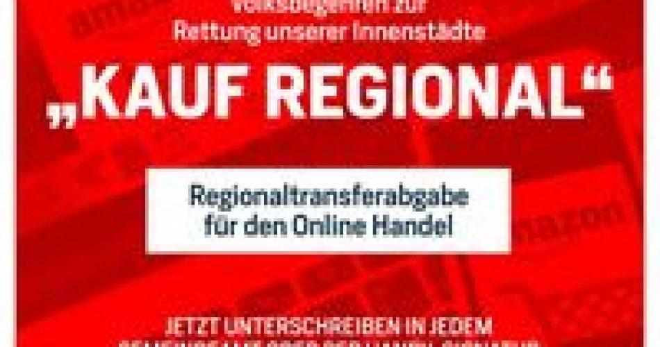 Volksbegehren Kauf regional